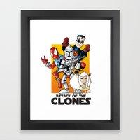 Clones Framed Art Print