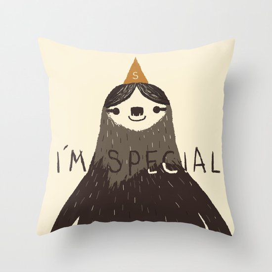 sloth(light) Throw Pillow