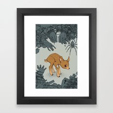 Deer in the Headlights Framed Art Print