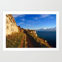 Cliff's Edge Dover  Art Print