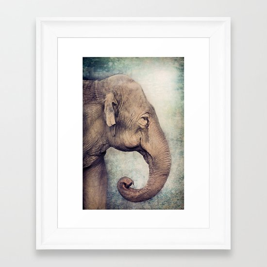 The smiling Elephant Framed Art Print