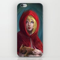 Red and Little Wolf iPhone & iPod Skin