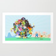 Art Print featuring Adventure Time - Land Of… by Sin Nombre