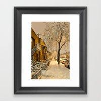 Montreal Under The Snow Framed Art Print