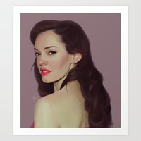 Rose McGowan Art Print