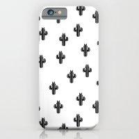 Catctus Black On White iPhone 6 Slim Case