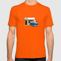 Surf Mens Fitted Tee Orange SMALL