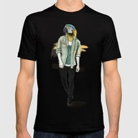 I was a Parrot before it was Cool Mens Fitted Tee Black SMALL