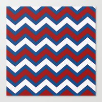 U.S.A CHEVRON Canvas Print