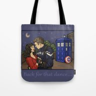 Tote Bag featuring Back For That Dance by Karen Hallion Illust…