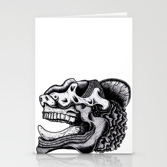 Illustration of a Ghost Stationery Card