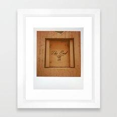 The End Polaroid Framed Art Print