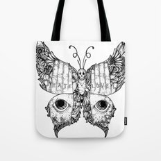 hate love butterfly Tote Bag