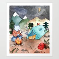 Greetings from Camp! Art Print