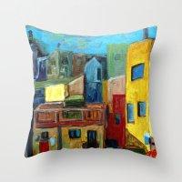 Barcelona Rooftops Throw Pillow