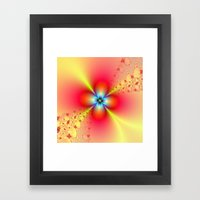 Floral Sprays in Red and Yellow Framed Art Print
