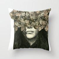 Head Case Throw Pillow