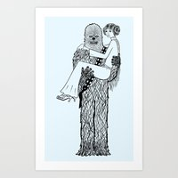 Chewy Finds A Girlfriend Art Print