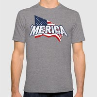 'MERICA Mens Fitted Tee Tri-Grey SMALL