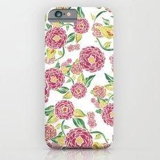 Camellia Japonica Floral Pattern iPhone 6 Slim Case