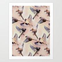 Sparrow Flight Art Print