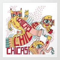 Chicas, chicas, chicas! Art Print