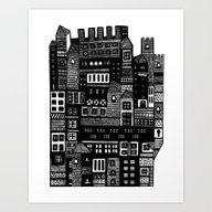 Art Print featuring Neighborhood II by Marcelo Romero