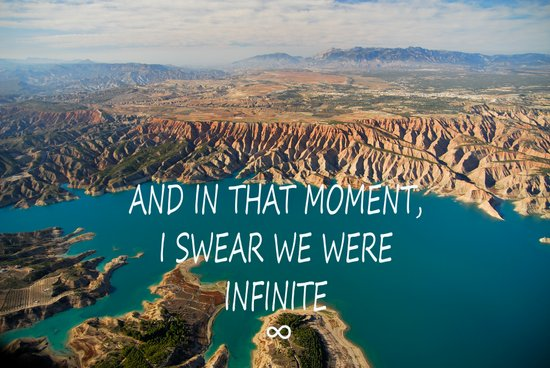 AND IN THAT MOMENT, I SWEAR WE WERE INFINITE ∞ Art Print