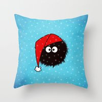 Cute Dazzled Bug Christm… Throw Pillow