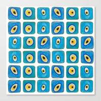 Evil Eye Squares Canvas Print