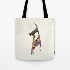 Walking Shadow, Cat Tote Bag
