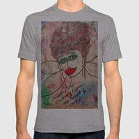 Fairy Art Mother Mens Fitted Tee Athletic Grey SMALL