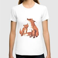 Lemon Foxes Womens Fitted Tee White SMALL