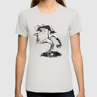 Wound-up: The Pitcher Womens Fitted Tee Silver SMALL
