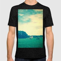 Summer Hay Field Mens Fitted Tee Tri-Black SMALL