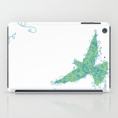 Bird Fly No. 2 (Blue/Green) iPad Case