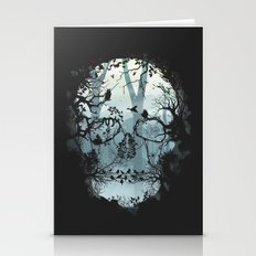 Dark Forest Skull Stationery Cards