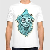 Scared Crow Mens Fitted Tee White SMALL