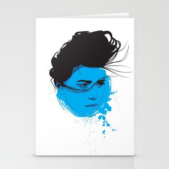 Black, blue & white I Stationery Card