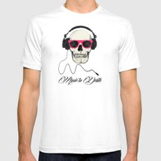 Music to Death White Mens Fitted Tee SMALL