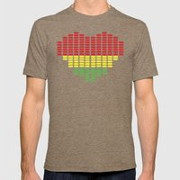 Digital Heart meter Mens Fitted Tee Tri-Coffee SMALL