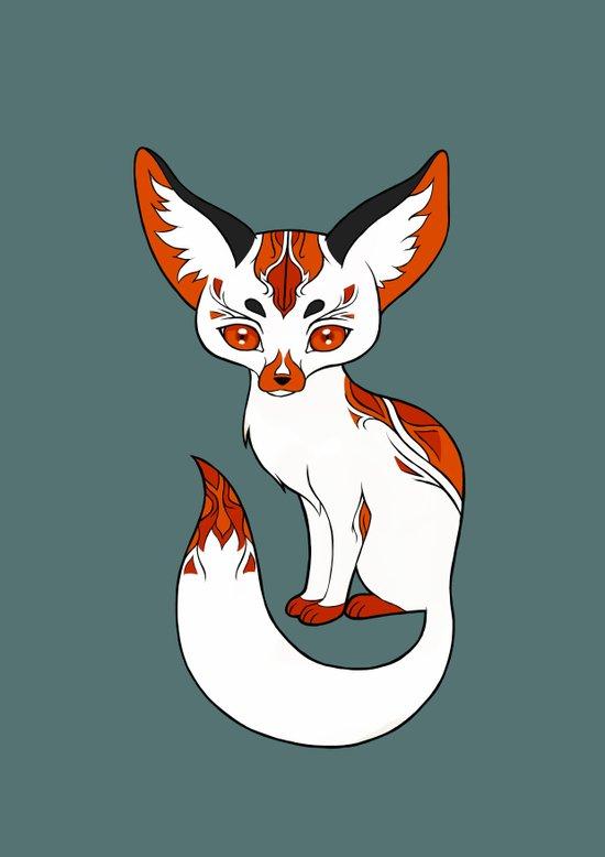 Mysterious Fox Art Print