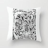 What Hides A Caress Throw Pillow