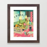 eating at johnny´s Framed Art Print