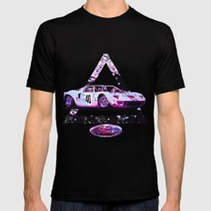 Ford Gt40// Le Mans Race Cars Black SMALL Mens Fitted Tee