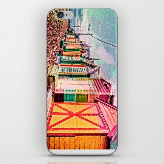 Painted Beach Huts iPhone & iPod Skin