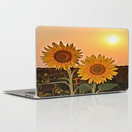 Couple Of Sunflowers Laptop & iPad Skin