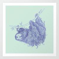 Slothy Art Print