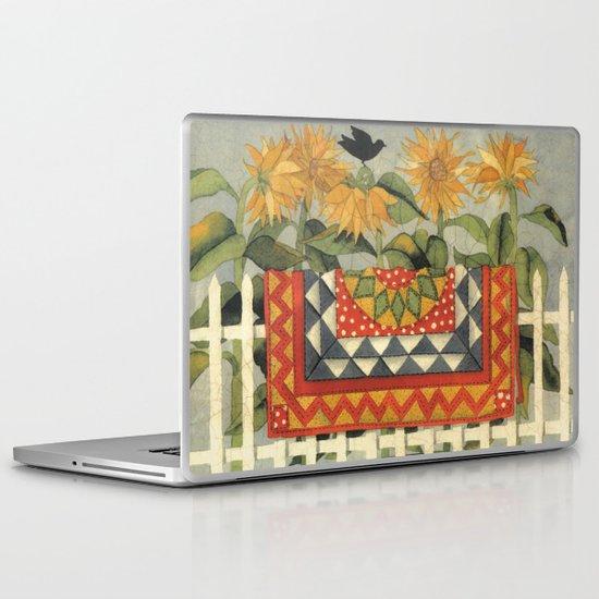 Sunflower Quilt Laptop & iPad Skin