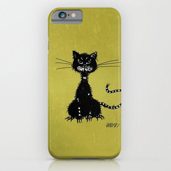 Ragged Evil Black Cat iPhone & iPod Case